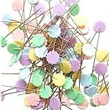"Rimobul Flat 1.9"" Flower Head Pins Boxed - Pastel(2 x 100 Pack)"