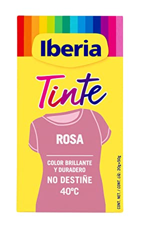 Iberia - Tinte Rosa para ropa, 40°C: Amazon.es: Belleza