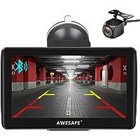 AWESAFE Navegador GPS para Coches con cámara Trasera