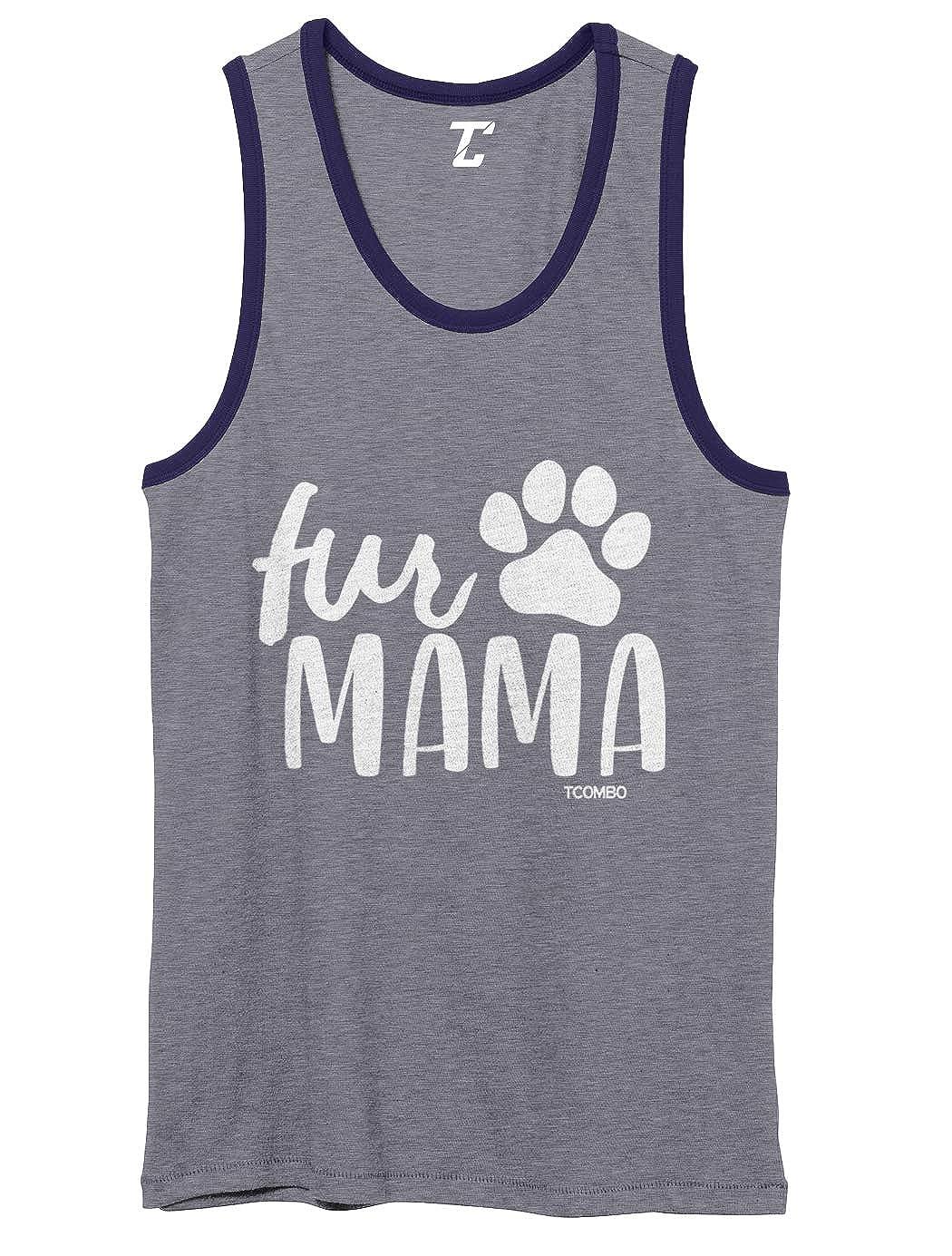 Dog Cat Pet Owner Mom Mother Unisex 2-Tone Tank Top Fur Mama