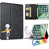 ORIbox Case for iPad 7th 10.2''(2019)/iPad Air 3rd 10.5''(2019) /iPad Pro 2nd 10.5''(2017), PU Leather Folio Smart Cover with Auto Sleep Wake Stand Wallet Case for iPad, 10.2/10.5 inch,Black