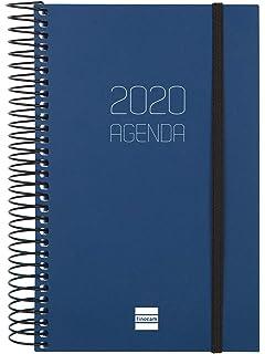 Finocam - Agenda 2020 1 día página Espiral Opaque Negro ...