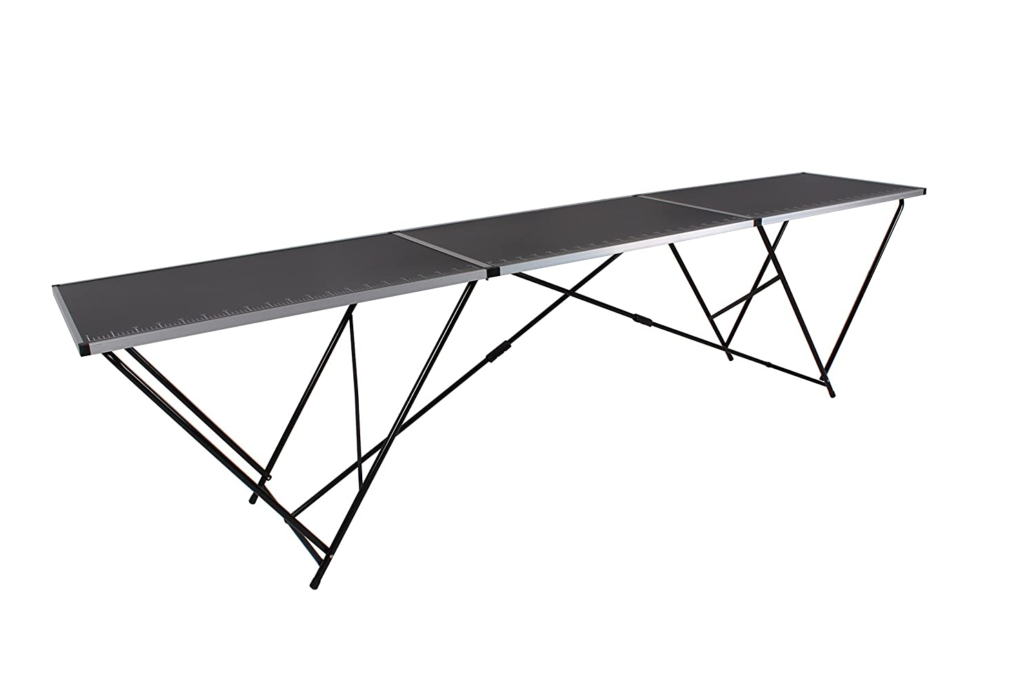 EazyGoods 3 Metre Pasting Table, MDF Top/Aluminium Frame, Black, 300 x 60 x 78 cm Eazy Goods Ltd 3M