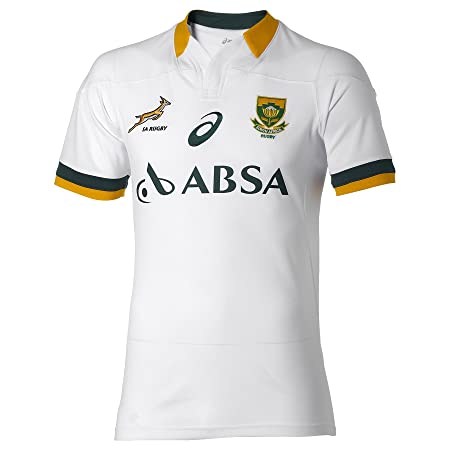 7989ef224aba Asics Mens South Africa Springboks Away Replica Match Jersey 2014 15 White L