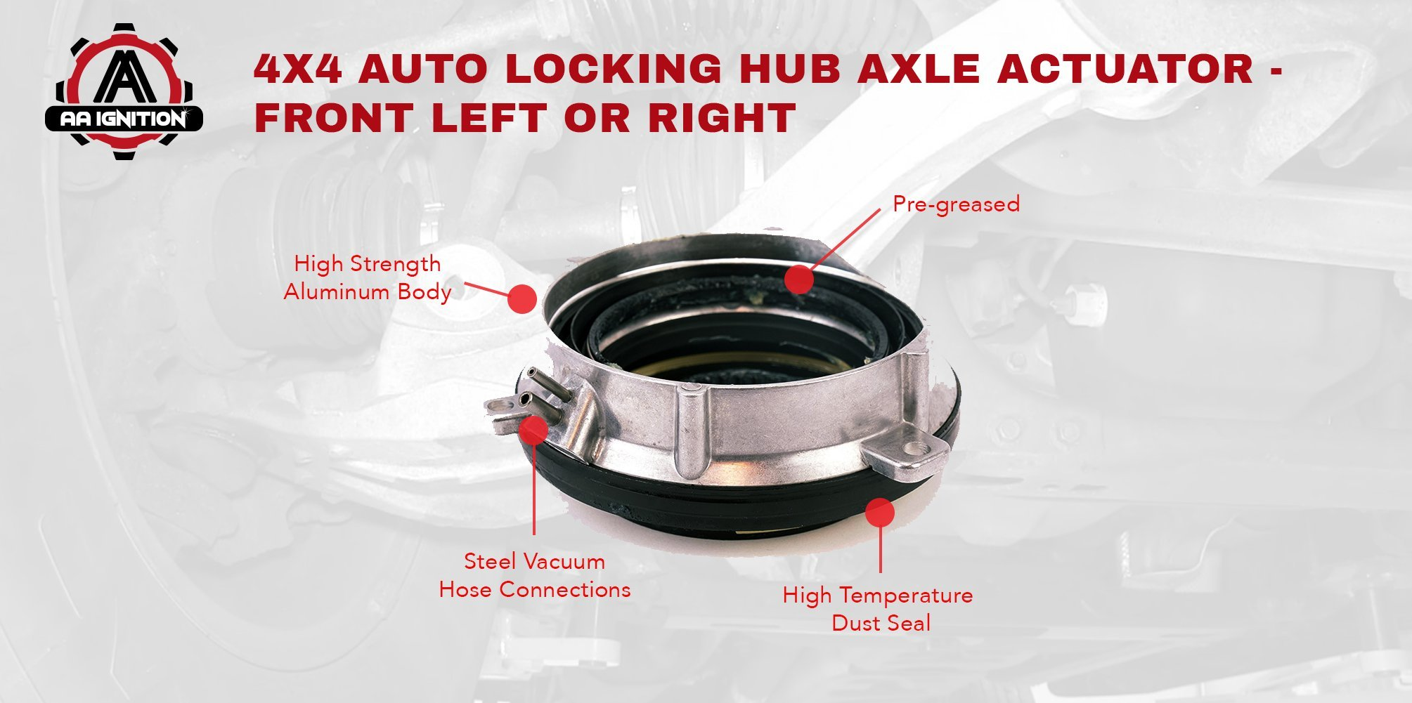 4 Wheel Drive 4x4 4wd Auto Locking Hub Axle Actuator Front Left Or 2006 Ford F 150 Iwe Solenoid Right Replaces Part 7l1z 3c247 A Fits 2004 2012 F150 2003