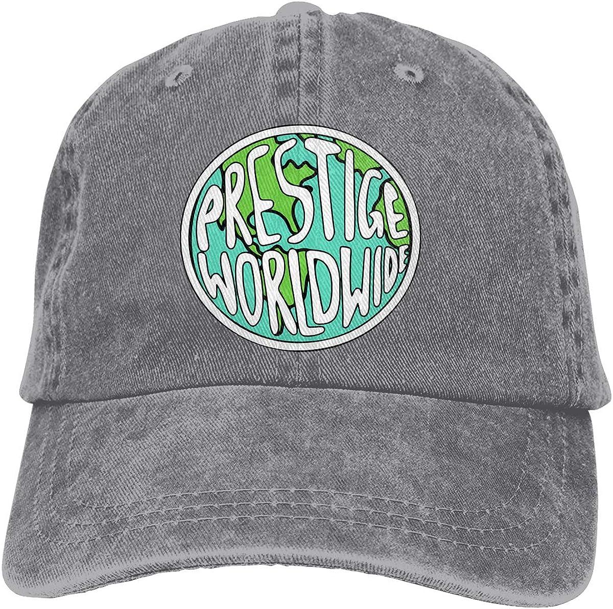 TBVS 77 Men Women Washed Yarn-Dyed Denim Baseball Cap Prestige Worldwide Plain Cap