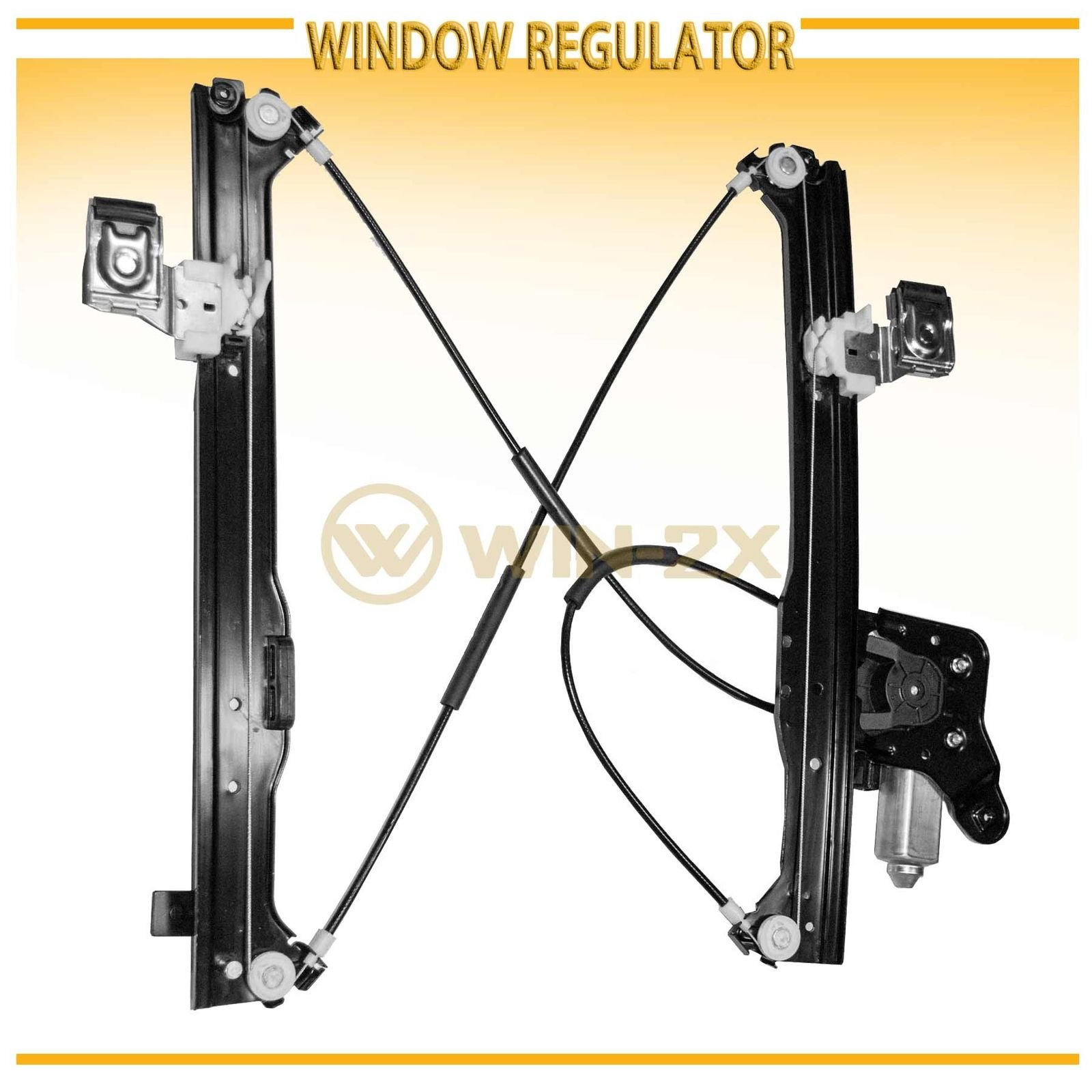 WIN-2X New 1pc Rear Passenger Right Side Power Window Regulator With Motor Assembly Fit Cadillac Escalade EXT/ESV Chevy Suburban Avalanche GMC Yukon XL Silverado/Sierra 1500 2500 3500 Classic Crew Cab by WIN-2X