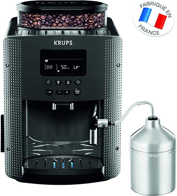 Krups Essential triturador de molino automático, cafetera expresso, Negro: Amazon.es: Hogar