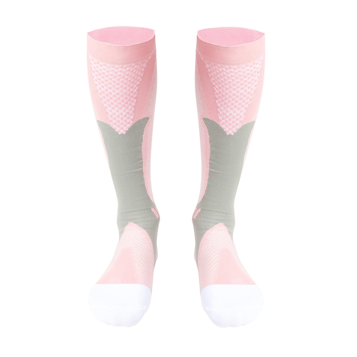 Compression Socks(20-30 mmHg) for Women & Men,Best for Running Athletic Sports Circulation Flight Travel Nurses & Recovery - 1 Pair SLTY
