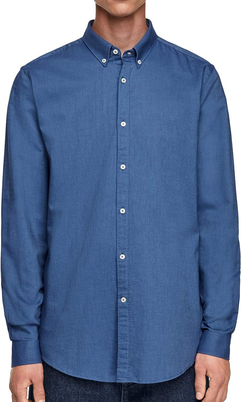Zara Men Oxford 8211/303/400 - Camisa estructurada Azul M ...