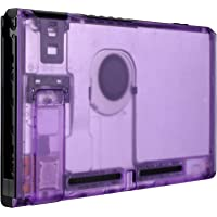 eXtremeRate Transparent Clear Purple Console Back Plate DIY Replacement Housing Shell Case for Nintendo Switch Console…
