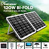 Solraiser 120W 160W 200W 250W 300W Portable Folding Solar Panel Kit 12V Monocrystalline Camping Caravan Boat Charging Power Battery Generator Regulator MPPT Controller USB Home House