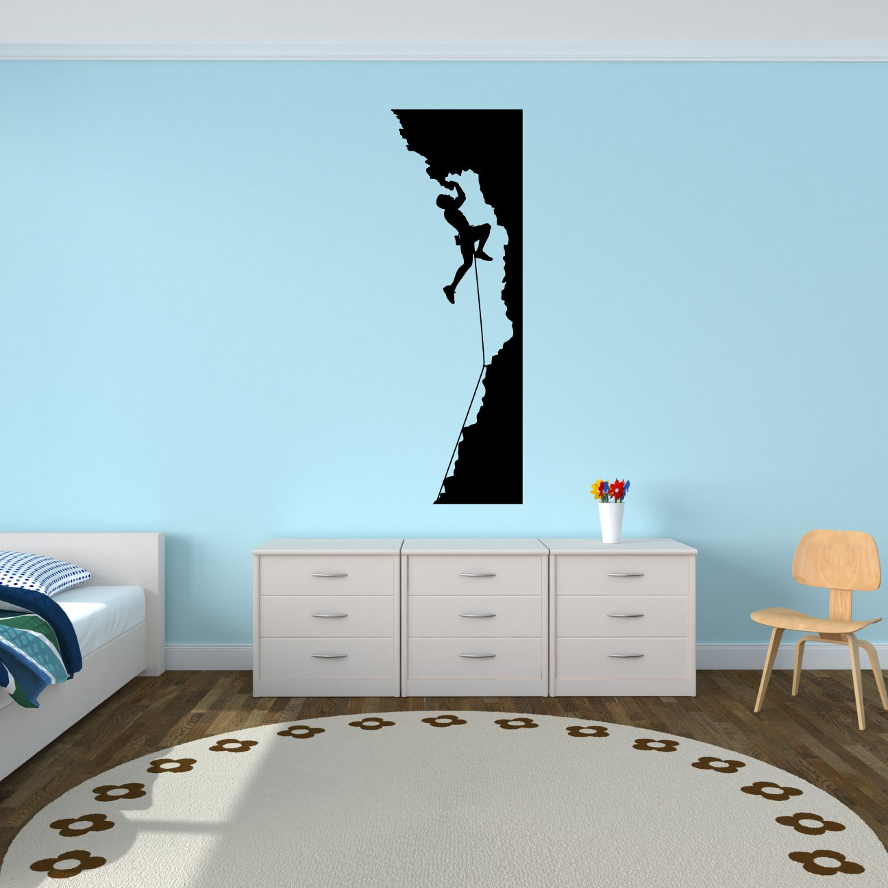 Amazon.com: Rock Climbing Wall Decal Sticker 4   Decal Stickers And Mural  For Kids Boys Girls Room And Bedroom. Mountain Climbing Climber Wall Art  For Home ...