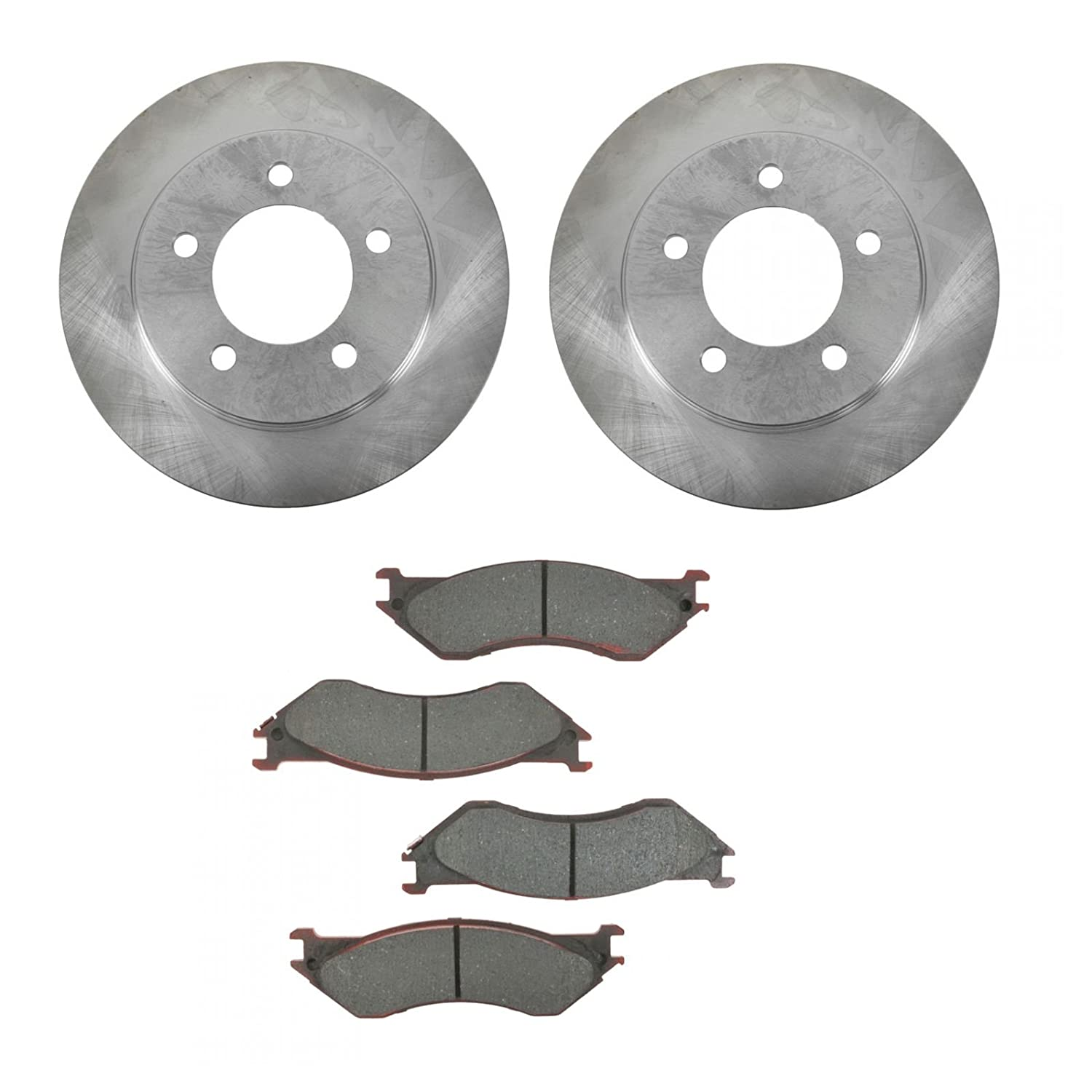 Rear Disc Rotors /& Semi-Metallic Brake Pad Fit Ford Lincoln Expedition Navigator
