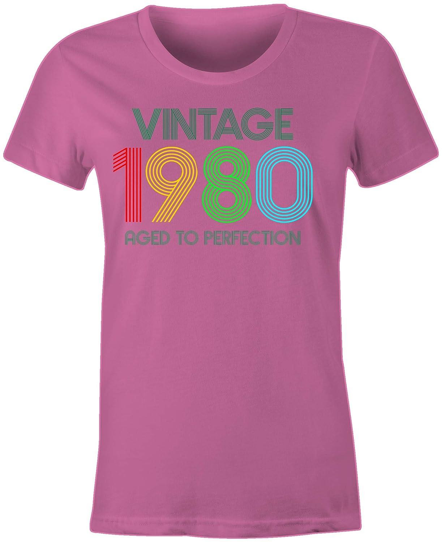 6TN Donna Maglietta Vintage 1980 alla Perfezione