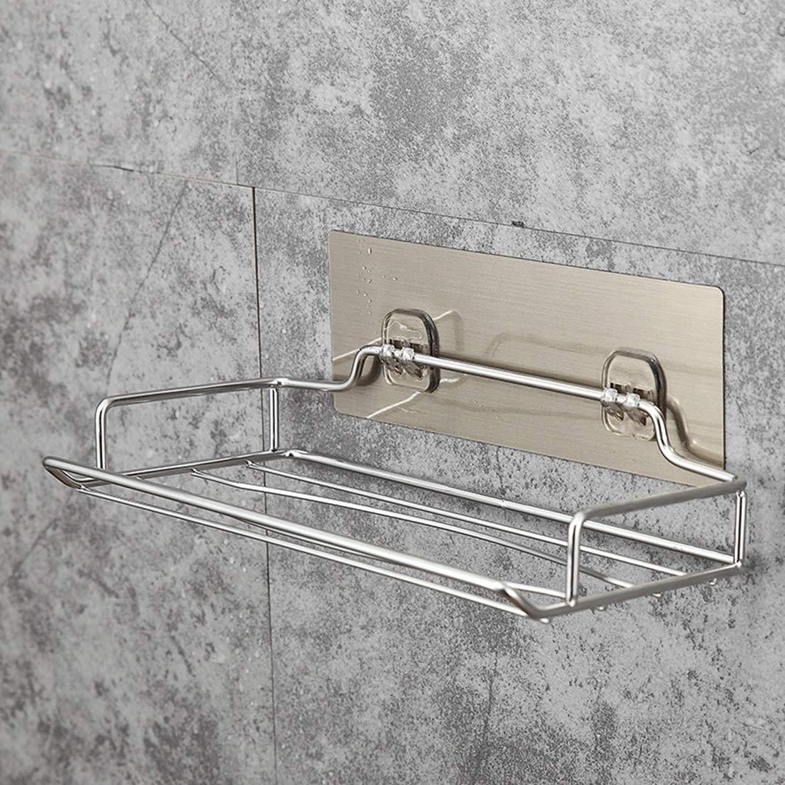 Edelstahl gebürstet Color : Silver WEATLY Papierhandtuchhalter
