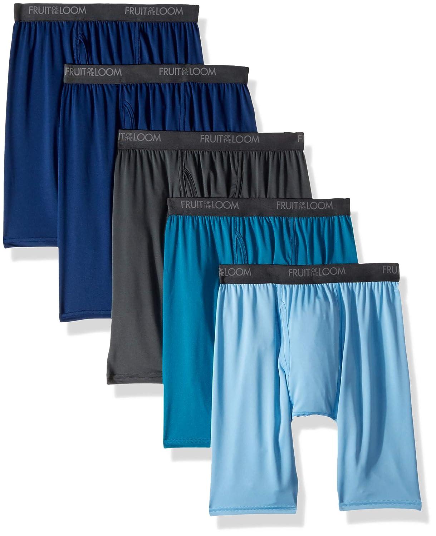 Fruit of the Loom Men's Micro-Stretch Long Leg Boxer Briefs