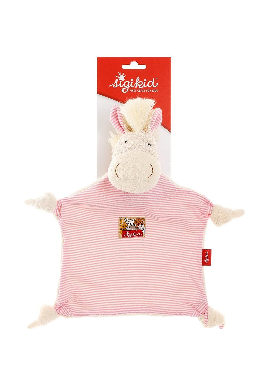 Rosa//Wei/ß Schnuffeltuch Pony 48093 sigikid M/ädchen