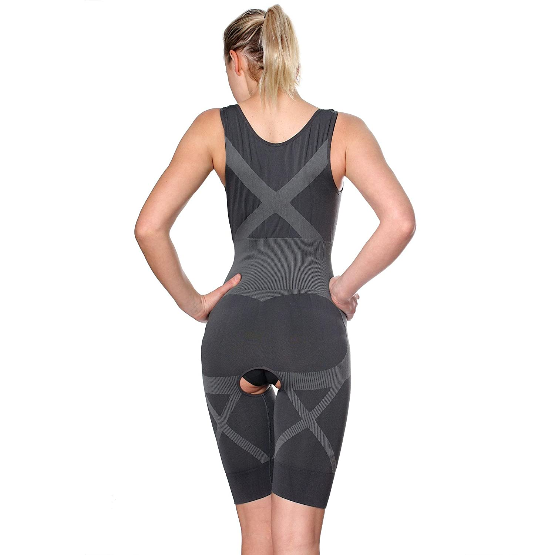 da4a77a4c6b Fullness Womens Bamboo Natural Fiber Magic Slim Body Full Body Suit Shaper  at Amazon Women s Clothing store