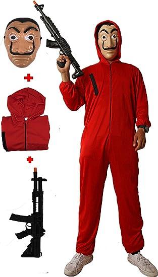 Gojoy Shop- Disfraz con Máscara y Pistola de Ladrón Casa del Papel ...