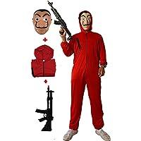 Gojoy shop- Disfraz, Máscara y Pistola de Casa de Papel Ladrón para Niños y Niñas Carnaval, Halloween (Contiene Máscara…