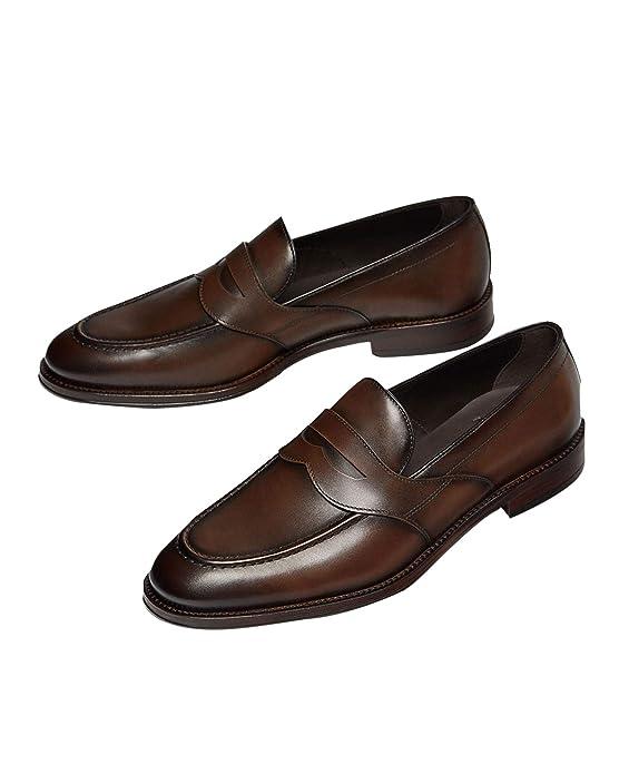 MASSIMO DUTTI - Mocasines para Hombre Marrón marrón, Color Marrón, Talla 44: Amazon.es: Zapatos y complementos