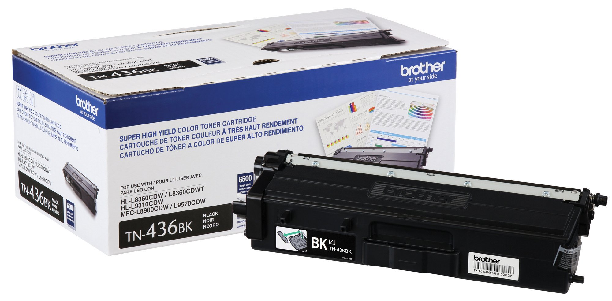 Brother Printer TN436BK Super High Yield Toner-Retail Packaging , Black