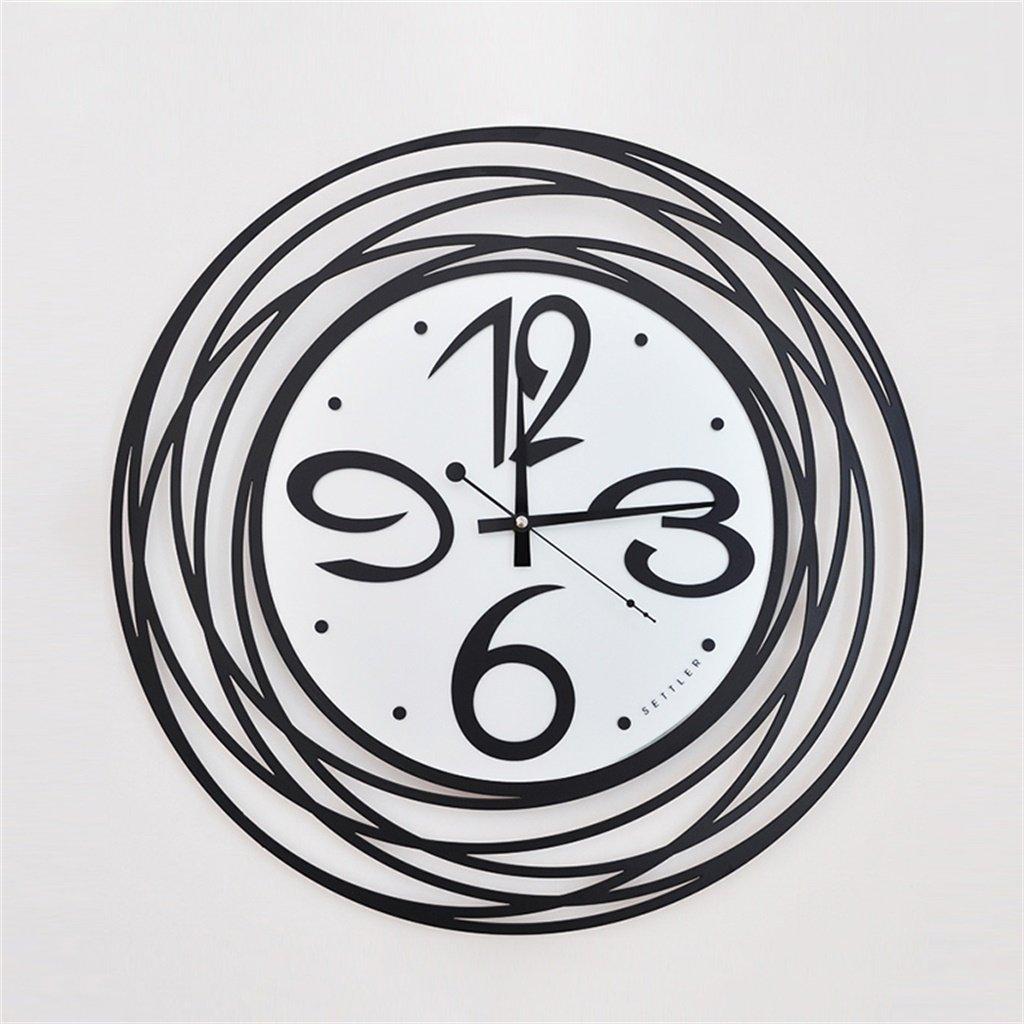 YFF-壁時計 スタイリッシュミニマム円形惑星ウォールクロック鉄工芸人格クリエイティブ壁掛け時計居間スタディベッドルームダイニングルームミュート時計 B07CR1VM5M