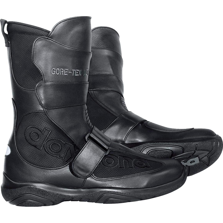 de piel Daytona color negro Botas de moto para hombre BURDIT XCR GTX