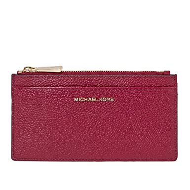 los angeles a48b5 960bb MICHAEL Michael Kors Large Leather Card Case, Color 550 Maroon