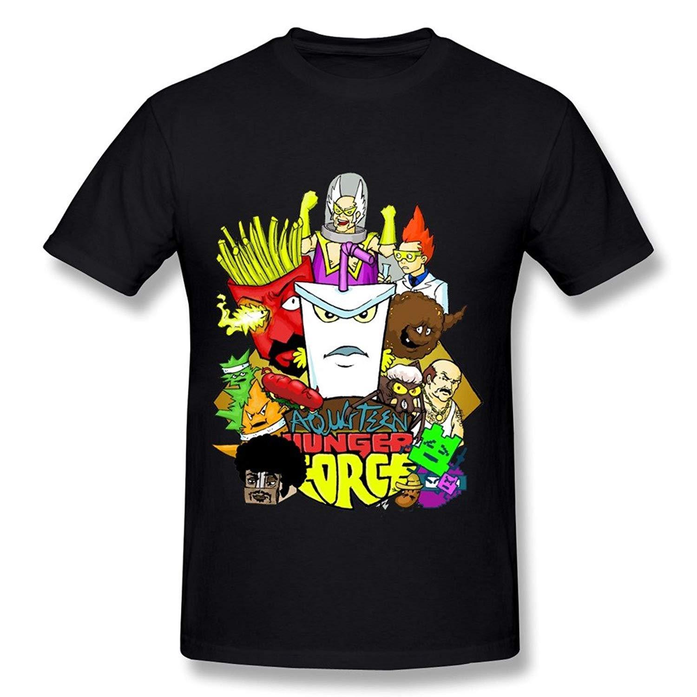 Hoosand Fashion S Aqua Teen Hunger Force Generic Tshirt Black