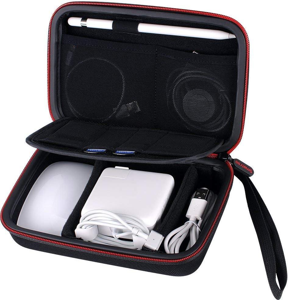 Smatree Funda Dura para Apple Pencil, Magic Mouse, MagSafe 1 Adaptador de Corriente, Apple Watch Cargador Magnetic Cable de Carga, Bolsa de Viaje Cable Organizador Estuche para Apple Accesesorios