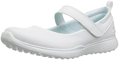 c7edb5d837fcf Skechers Kids Girls' Microburst-Scholar Holler Sneaker, WHT, 1 Medium US  Little