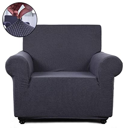 Excellent Fairyland Sofa Cover Loveseat Chair Slipcover 1 Piece Couch Shield Furniture Protector With Elastic Bottom Chair Gray Machost Co Dining Chair Design Ideas Machostcouk