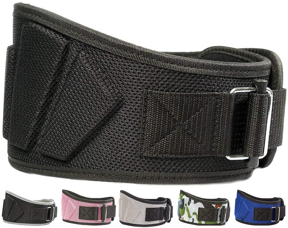 Fire Team Fit Weightlifting Belt, Olympic Lifting, Weight Belt, Weight Lifting Belt for Men and Women, 6 Inch, Back Support for Lifting (Black, 43'' - 49'' Around Navel, X-Large)