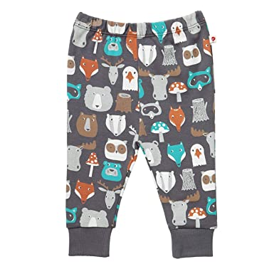 aa5704f250b Piccalilly Organic Cotton Unisex Girls Boys Brown Forest Friends Print Baby  Toddler Leggings