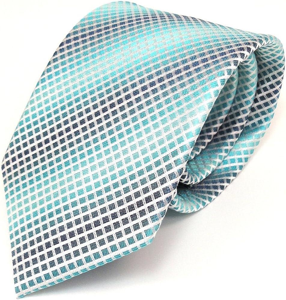 TigerTie diseñador corbata de seda - turquesa verde blanco a ...