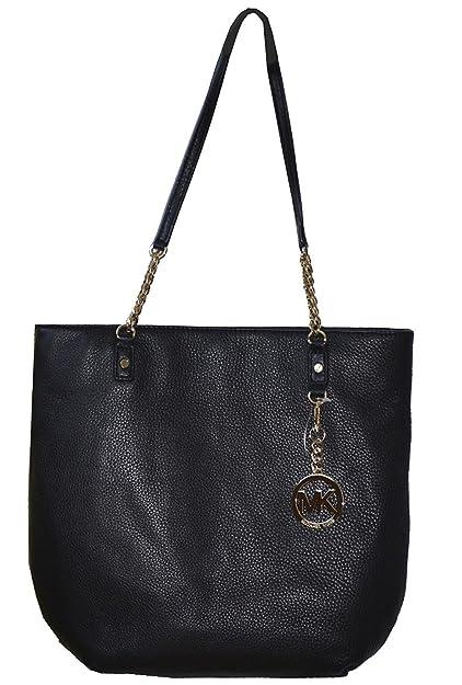 42577eab6d97a8 Amazon.com: Michael Kors Black Leather Jet Set NS Chain Tote Shoulder Bag  Handbag Purse: Shoes