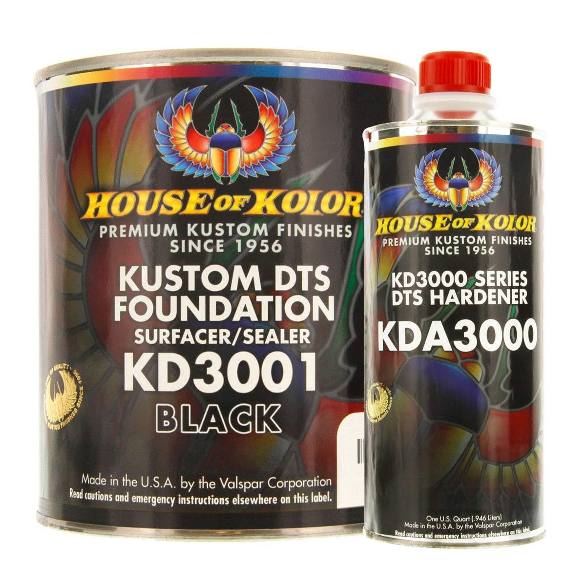 Kustom DTS Foundation Black Surfacer Sealer Kit w/Hardener (Gallon) by House of Kolor