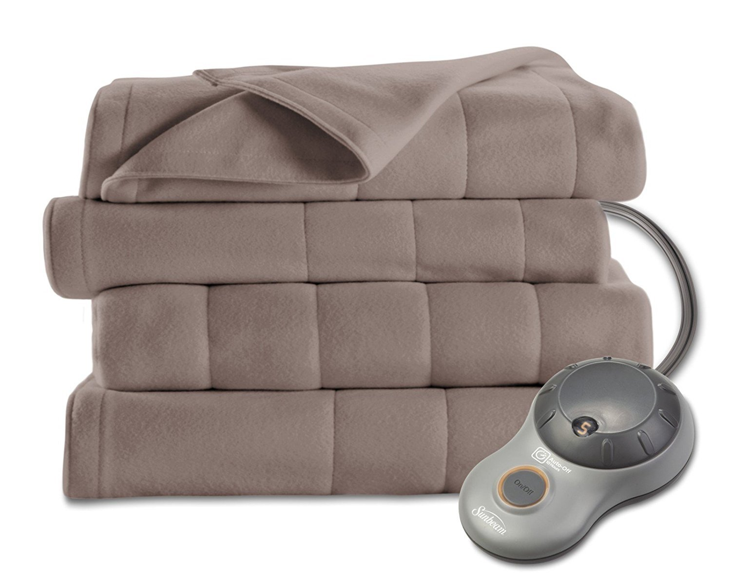 Sunbeam Quilted Fleece Heated Blanket, Queen, Mushroom, BSF9GQS-R772-13A00  | 0027045754170 - Buy new and used Homes, books and more | BIGWORDS.com