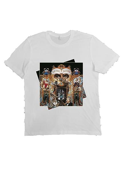 VILLAGESTORE Camiseta Unisex Moda 100% Algodón (VERIFIQUE SU TAMAÑO DE LA TARJETA) DANGEROUS MICHAEL JACKSON jtJNZJNw6C