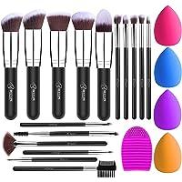 BESTOPE Makeup Brush Set 16 Pcs & 4 Makeup Sponges & 1 Brush Cleaner, Professional Makeup Brushes Beauty Blender Sponge…