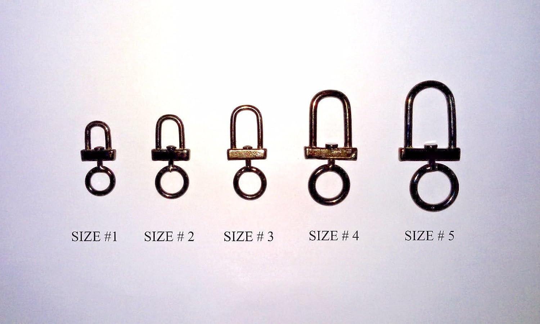 ALTAWASH Falconry Pivote à toutes les tailles (100% inoxydable, couleur bronze, excellente qualité), 1 Unbranded SwivelBrown1