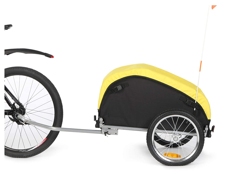 sepnine自転車貨物/荷物トレーラーwith Removeable天気カバー20217  Yellow/ Black B01K9MOXUQ