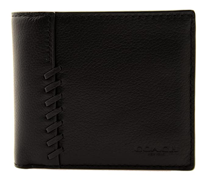 febde0555ba93 Coach Men s 3-in-1 Wallet with Baseball Stitch (Black)  Amazon.ca  Clothing    Accessories