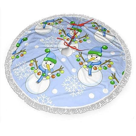 WETG - Falda para árbol de Navidad, diseño de muñeco de Nieve ...