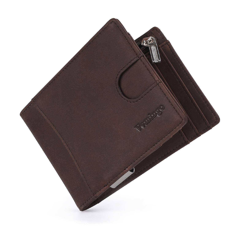 Vemingo Vemingo Cartera para Hombre con Clip,Monedero con RFID Bloqueo para Tarjetas de Crédito