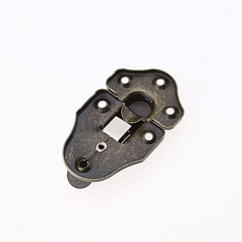 color bronce envejecido de metal OTOTEC Juego de 8 cierres para cajas estilo retro estilo retro