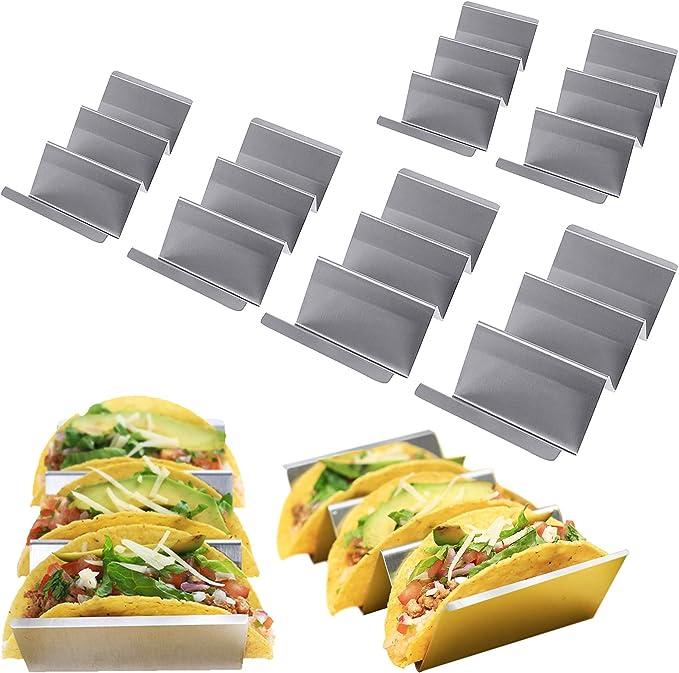 Taco Hotdog Holder servierständer Waves Stand Stainless Steel Tray Dinner