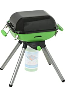 e1a55a3b6a8eb3 Flame King YSNVT-301 Multi-Function Portable Propane BBQ Grill and Cam,  Green